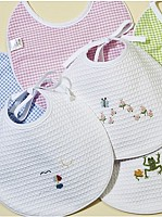 Capistrano Embroidered Waffle Weave Bib