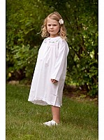 Capistrano Long Sleeve Eyelet Lace Cotton Dress