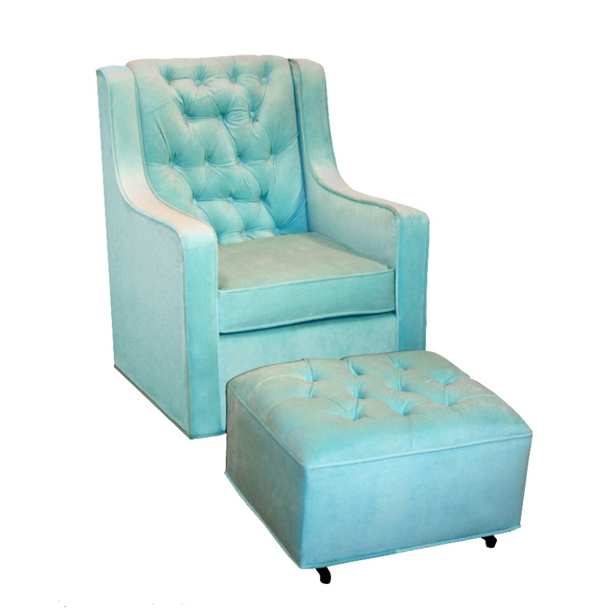 Ancientz Grand Ottoman Aqua Velvet