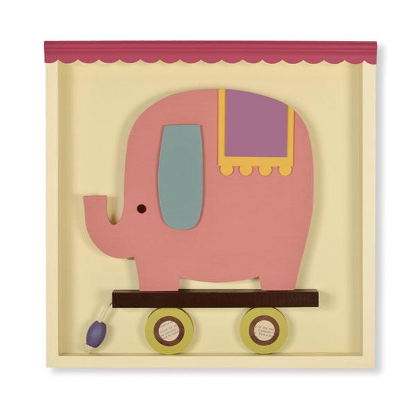Erin the Elephant Shadowbox Wall Art | Stylish Vintage Baby
